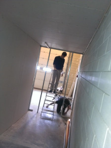 De warme kamer in aanbouw