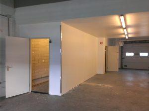 Warme kamer en muren brouwerij afgewerkt